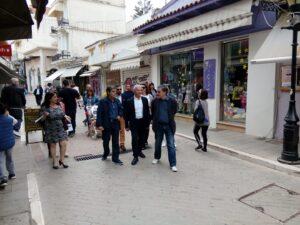 Ο υποψήφιος Δήμαρχος, Ε. Φονταράς, συνοδευμένος από τον Υπουργό Οικονομικών Ευκλείδη Τσακαλώτο και υποψήφιους δημοτικούς συμβούλους περιόδευσε στην Πρέβεζα την Πρωτομαγιά